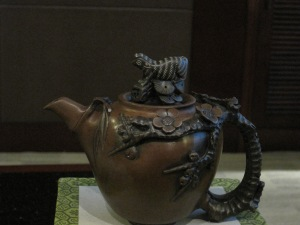 Carved stone teapot