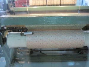 Modern industrial silk loom