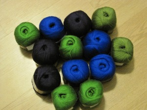 yarn purchased in the market