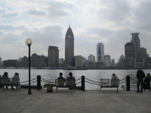 View of the Bund from the river walk