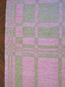 A table runner for Spring